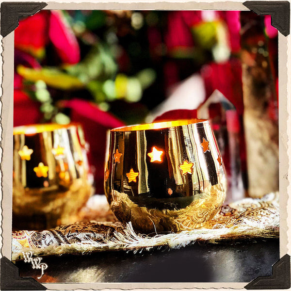 BRASS STAR TEALIGHT CANDLE HOLDER. For Altar Decor.
