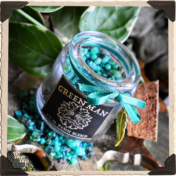GREEN MAN INCENSE. All Natural Resin Blend. For Fertility, Honoring Nature & Abundance.