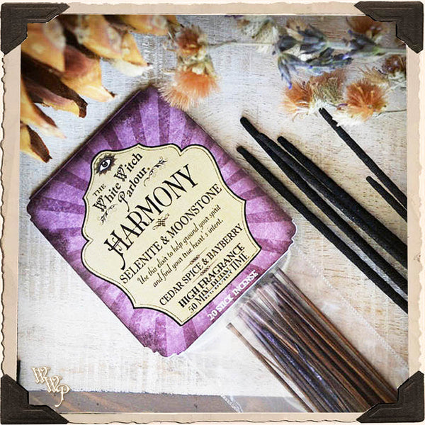 HARMONY Elixir INCENSE. 20 Stick Pack. For Peace, Divine Guidance & Moon Energy.