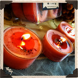 HARVEST TEALIGHT CANDLES. 12 Pack. For Fertility Abundance, Gratitude & Grounding.