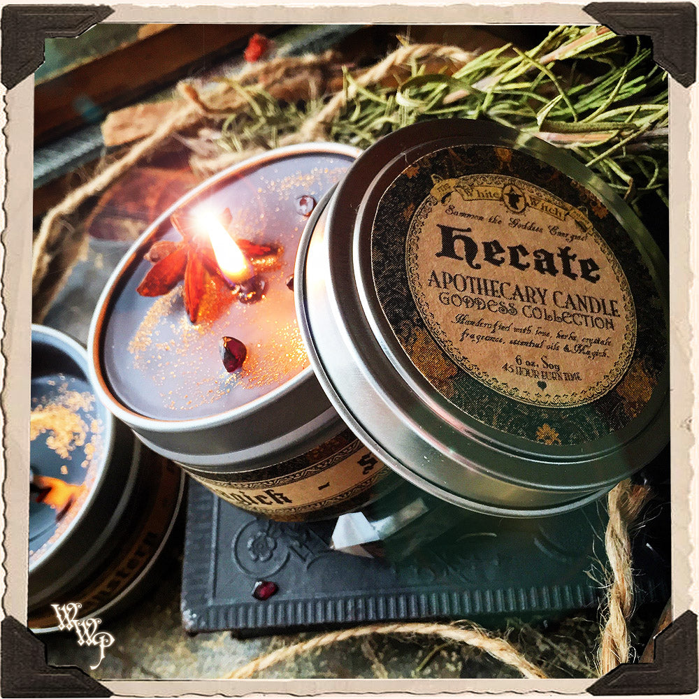 HECATE GODDESS CANDLE. 6 Oz. For Mystery, Magick, Spirits