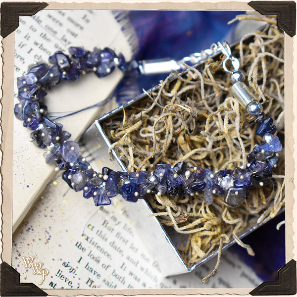 IOLITE CHIPSTONE BRACELET. For Wisdom, Intuition & Letting Go.