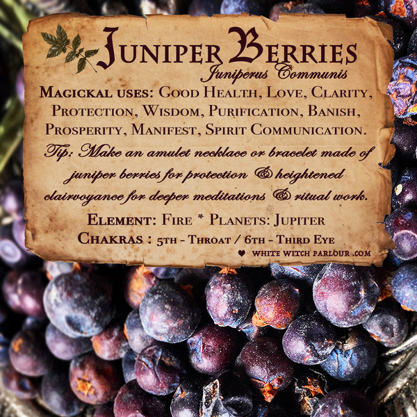 JUNIPER BERRY APOTHECARY. Dried Herbs. For Good Health, Protection & Spirit Communication.