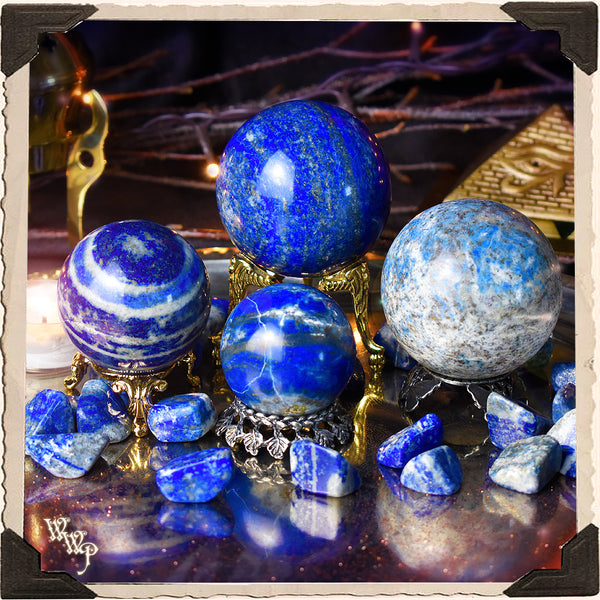 LAPIS LAZULI CRYSTAL SPHERE. For Cosmic Awareness & Spiritual Awakenings.