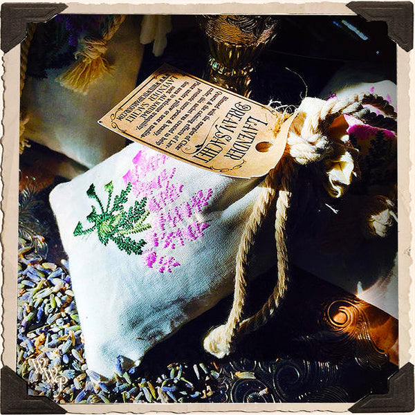LAVENDER SACHET Dream Pillow. Blessed with Clear Quartz Crystal For Holistic Sleep Remedy, Calming Stress & Anxiety Relief.