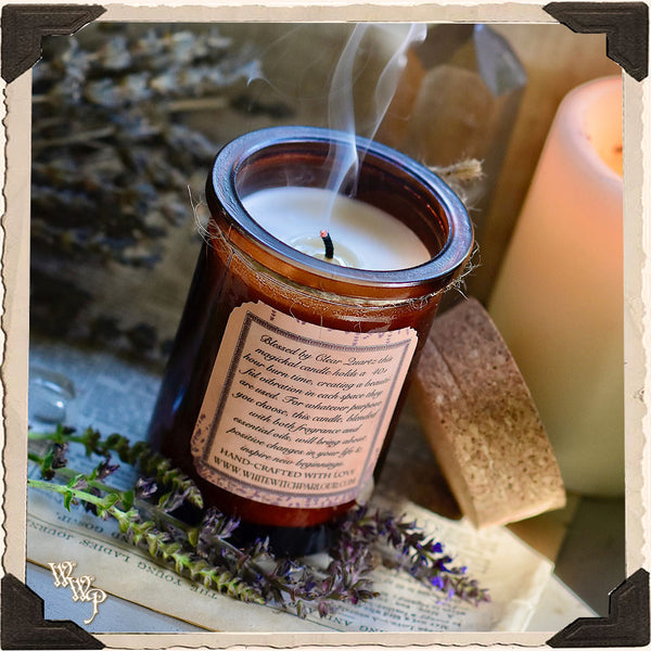 LAVENDER CANDLE APOTHECARY 5oz. For Meditation, Sleep & Divination.