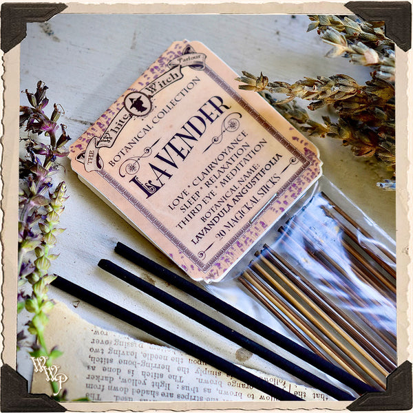 LAVENDER INCENSE. 20 Stick Pack. Single-Note. For Meditation, Sleep & Divination.