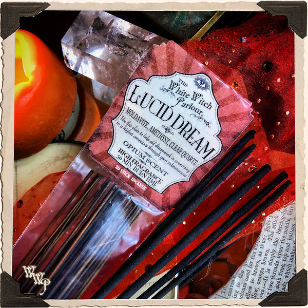 LUCID DREAM ELIXIR INCENSE. 20 Stick Pack. For Dreamwork & Subconscious Awakening.