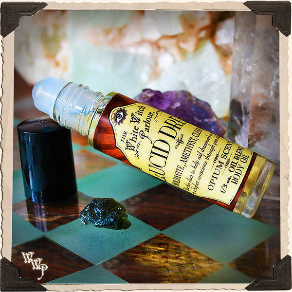 LUCID DREAM Elixir 1/3oz. BODY OIL Rollon. For Dreamwork & Subconscious Awakening.