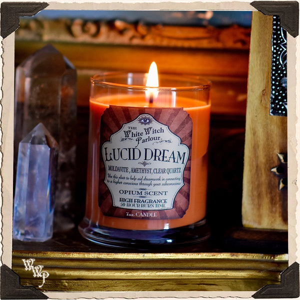 LUCID DREAM Elixir Apothecary CANDLE 7oz.   For Dreamwork & Subconscious Awakening.