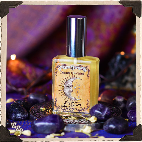 LUNA RITUAL OIL. 1oz. For Inspiration, Healing & Moon Rituals.