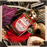 MABON 1/2oz. Alchemy RITUAL OIL. Autumn Equinox. Scent of Apple Spice, Cinnamon, Bayberry & Frankincense. Blessed by Carnelian Crystal.
