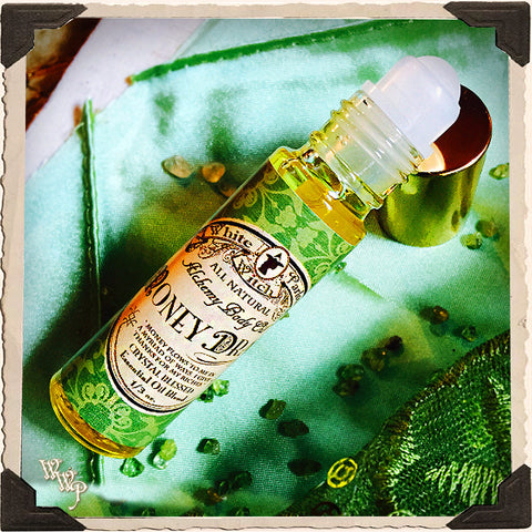 MONEY DRAW Alchemy Oil. All Natural Potion. Peppermint, Cinnamon & Lemongrass. Blessed with Peridot & Citrine Crystals.