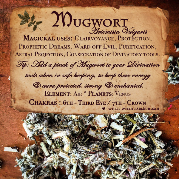 MUGWORT APOTHECARY. Dried Herbs. For Clairvoyance, Protection & Consecration.