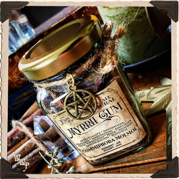 MYRRH GUM RESIN APOTHECARY. All Natural Incense. For Healing, Divination & Renewal.