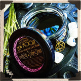 NEW MOON CHARCOAL FACE MASK. Lavender & Chamomile. All Natural 4oz. Blessed With Moonstone.