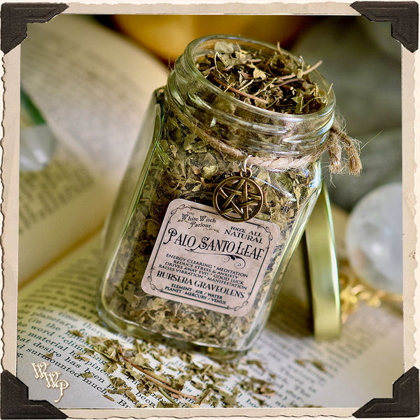PALO SANTO LEAF APOTHECARY. Dried Herbs. For Spiritual Cleansing, Healing, Enlightenment.