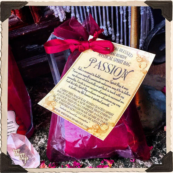 PASSION SPIRIT BAG. Blessed Mojo Medicine Bag For Drive, Sensuality & Empowerment.