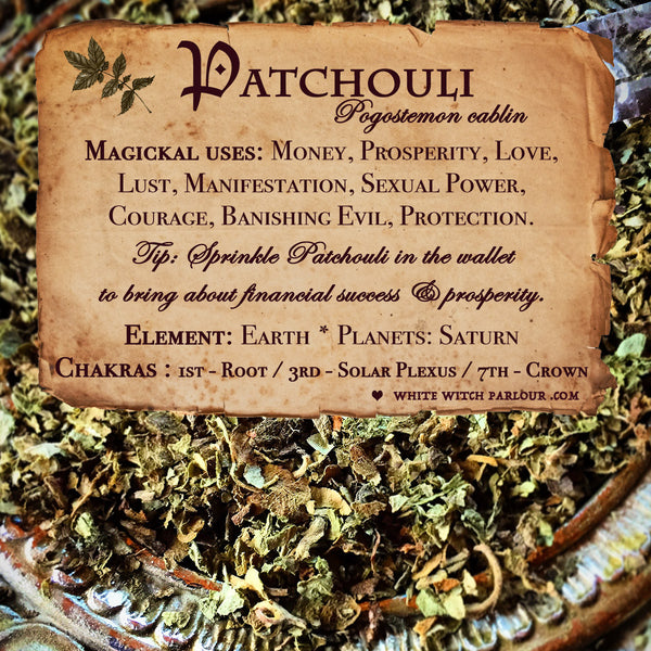 PATCHOULI APOTHECARY. Dried Herbs.  For Money, Prosperity, Lust & Manifestation.