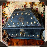 PENTACLE WITCH BOX. Aged Witch's Wooden Chest for Crystals, Potions & More.