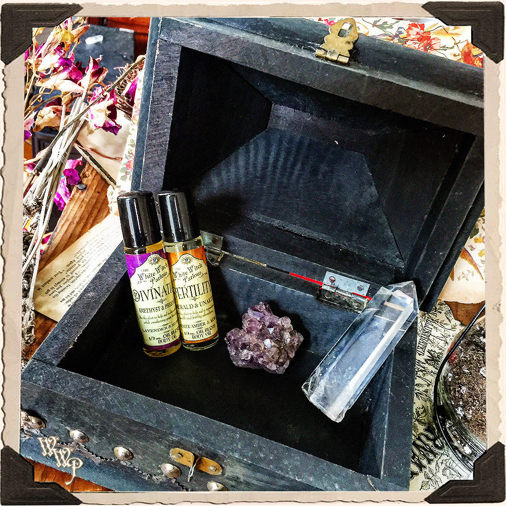 Pentacle Witch Box Aged Witch S Wooden Chest For Crystals