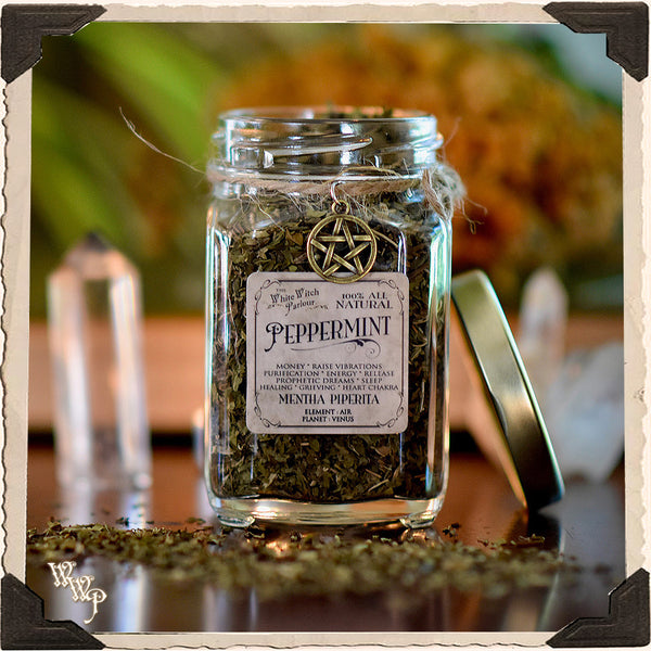 PEPPERMINT APOTHECARY. Dried Herbs. For Money Drawing & Raising Vibrations.