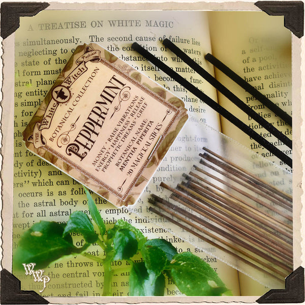 PEPPERMINT INCENSE. 20 Stick Pack. Single-Note. For Money Drawing & Raising Vibrations.
