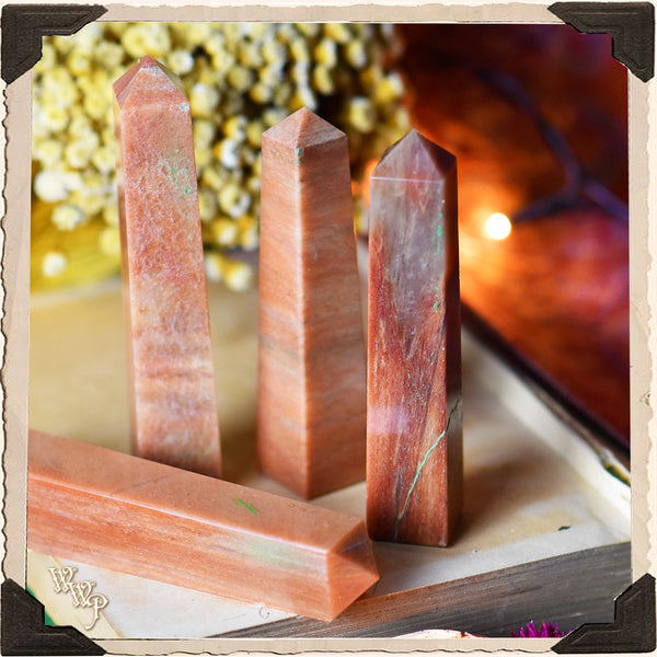 PINK AVENTURINE CRYSTAL OBELISK. For Love, Laughter & Power from the Heart.