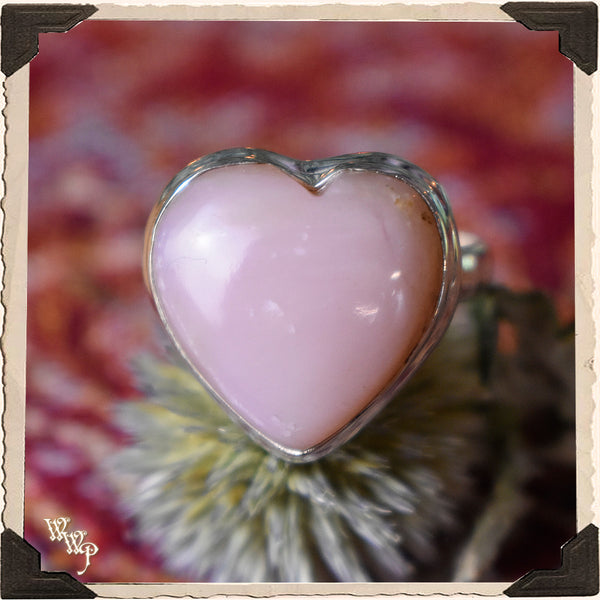 LIMITED EDITION : PINK OPAL HEART RING. For Love, Compassion & Emotions.