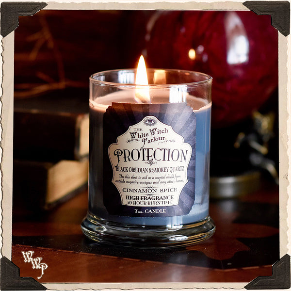PROTECTION Elixir Apothecary CANDLE 7oz. For Ceremony, Aura Protection, Psychic Attacks.