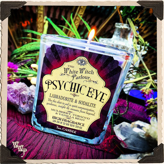 PSYCHIC EYE Elixir Apothecary CANDLE 7oz. For Enhancing Psychic Intuition & Spiritual Energy.