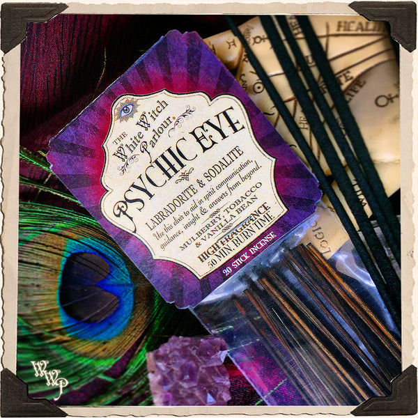 PSYCHIC EYE Elixir INCENSE. 20 Stick Pack. For Enhancing Psychic Intuition, Spiritual Energy & Divination.