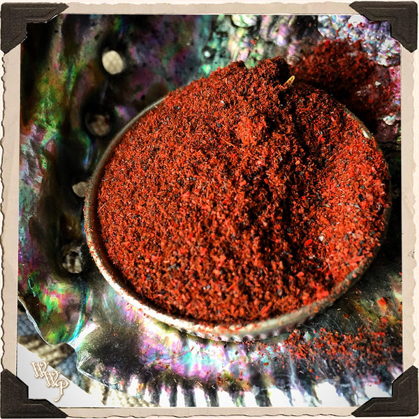 PURGO Powder Incense All Natural. Blessed by Onyx & Clear Quartz For Purification & Smudging.