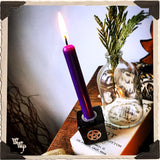 PURPLE CHIME CANDLES. 13 Pack - Unscented. Mini Candle Magick for Spirit Element & Third Eye.