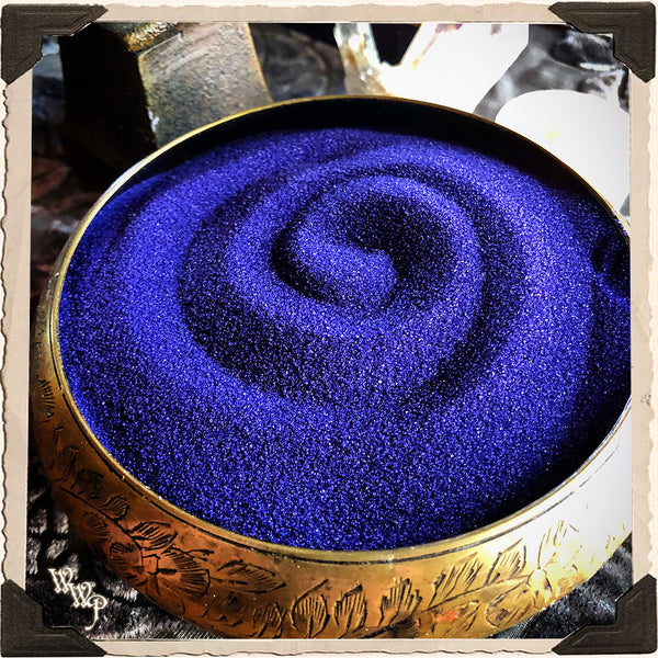PURPLE / INDIGO RITUAL SAND. 4oz. For Incense Burners & Altar Decor.