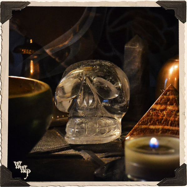 CLEAR QUARTZ CRYSTAL SKULL. For Wisdom, Psychic Clarity & Spiritual Growth.