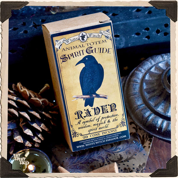 RAVEN CONE INCENSE. Animal Totem for Insight, Magick, Protection & Creation.