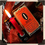 RED CHIME CANDLES. 13 Pack - Unscented. Mini Candle Magick for Fire, Earth Element & Root Chakra.