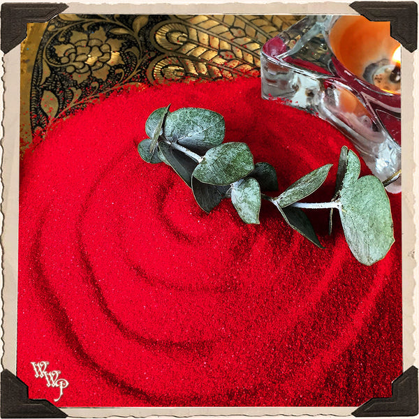 RED RITUAL SAND. 4oz. For Incense Burners & Altar Decor.