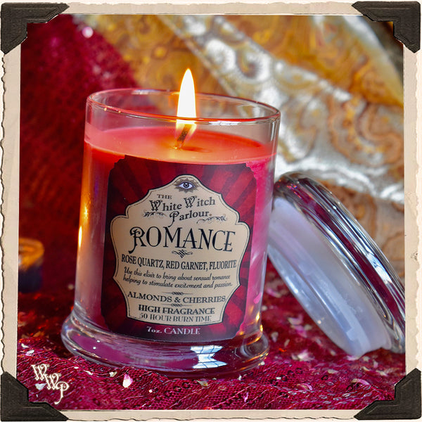 ROMANCE Elixir Apothecary CANDLE 7oz. For Passion, Seduction & Kundalini.
