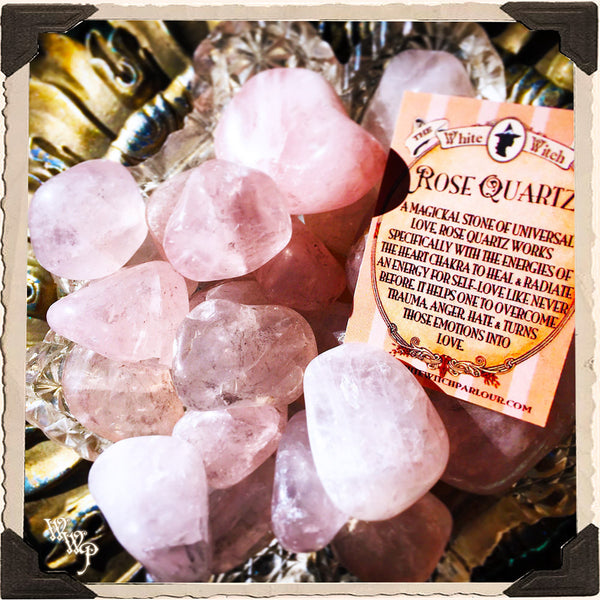ROSE QUARTZ TUMBLED CRYSTAL. For Universal Love, Happiness, Truth & Friendship.