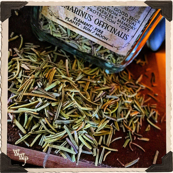 ROSEMARY APOTHECARY. Dried Herbs. For Warding Off Evil Spirits, Psychic Detox & Purification.