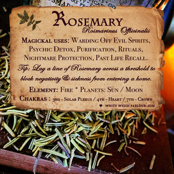 ROSEMARY APOTHECARY  Dried Herbs  For Warding Off Evil Spirits, Psychic  Detox & Purification