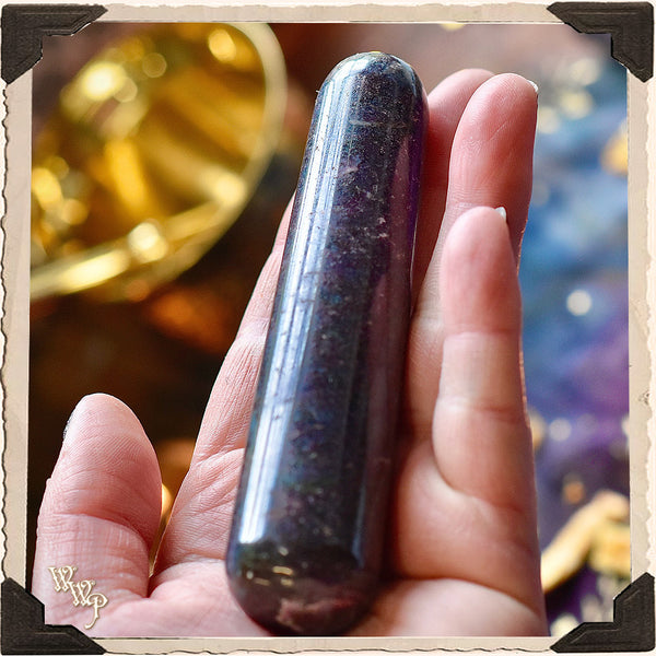 RUBY KYANITE MASSAGE WAND Crystal. For Passion, Bliss & Life Force Energy.