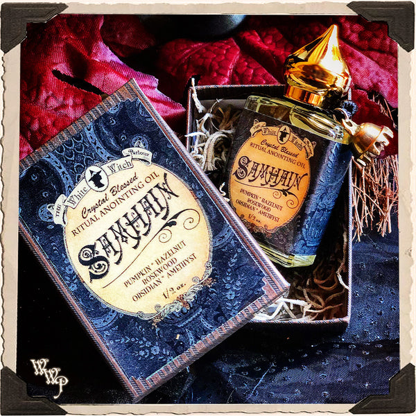 SAMHAIN 1/2oz. Alchemy RITUAL OIL. For Halloween, Autumn, Sabbat & Ceremony.