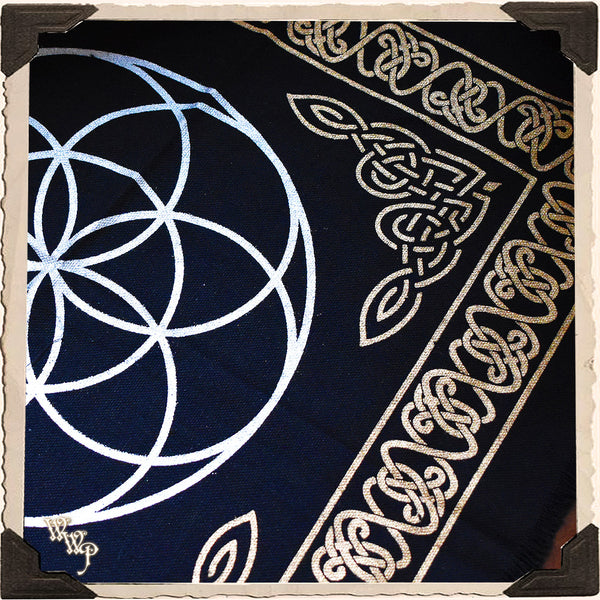 SEED OF LIFE ALTAR CLOTH Crystal Grid Mat