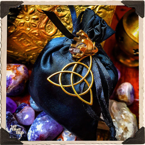 SHIELD SPIRIT BAG. Blessed Mojo Medicine Bag For Protection, Empaths & Blocking Negativity.