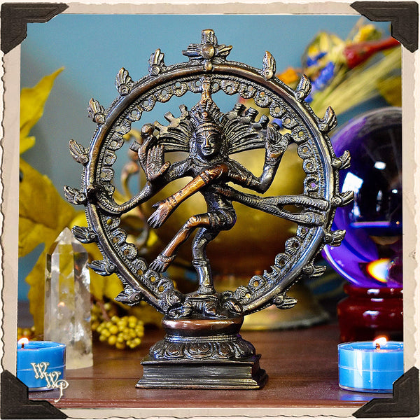 SHIVA NATRAJ ALTAR DECOR. Brass Statue for Spiritual Protection, Rebirth, Awakening & Movement.
