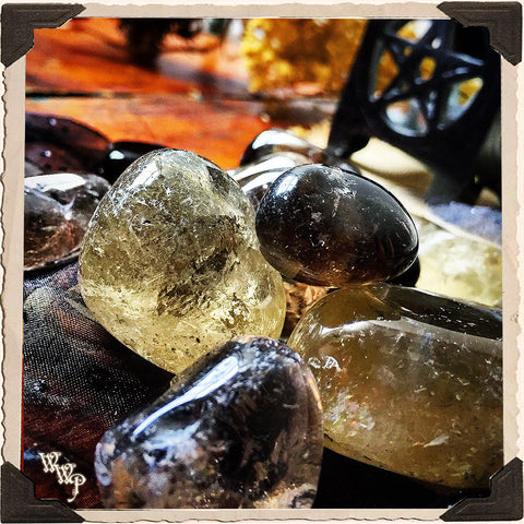 SMOKY QUARTZ TUMBLED CRYSTAL. For Protection, Banishing & Negativity.