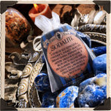 SODALITE TUMBLED CRYSTAL. For Self Expression & Artistic Freedom.